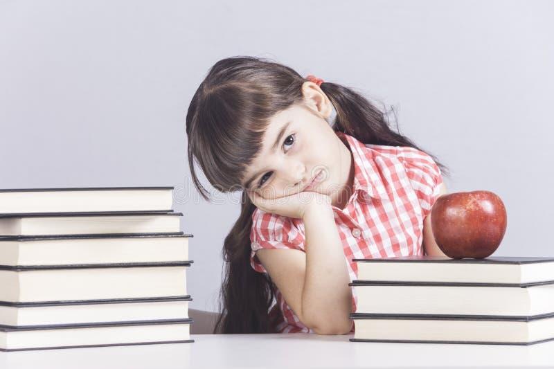 乏味小女小学生 库存图片