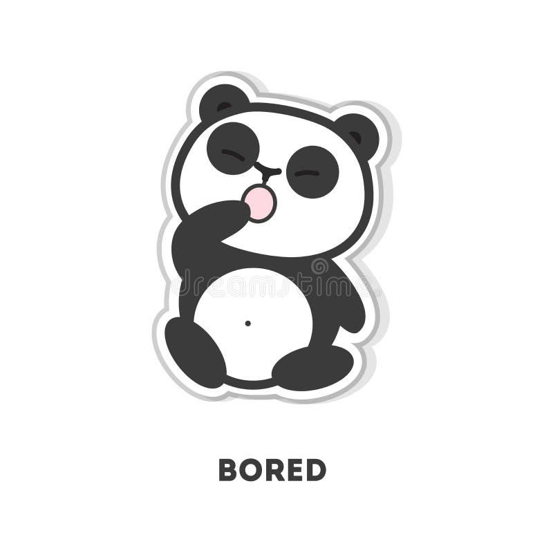 乏味熊猫 向量例证