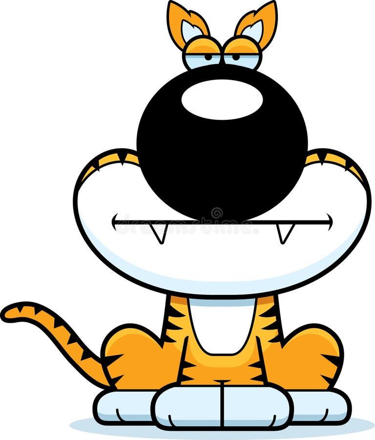 乏味的动画片塔斯马尼亚的老虎 向量例证