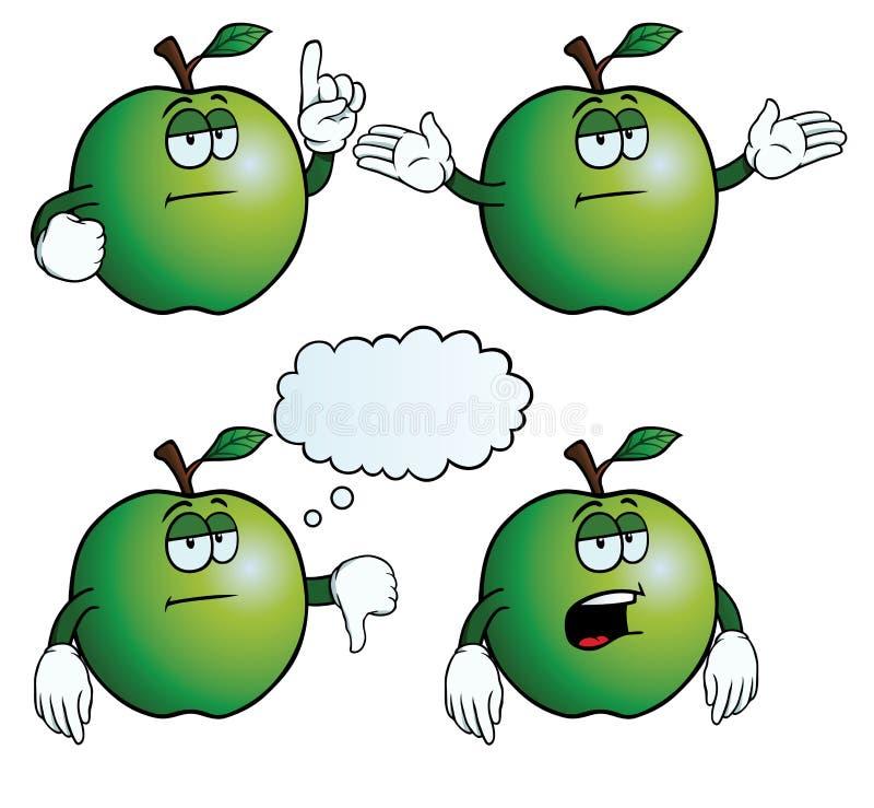 乏味苹果集合 皇族释放例证