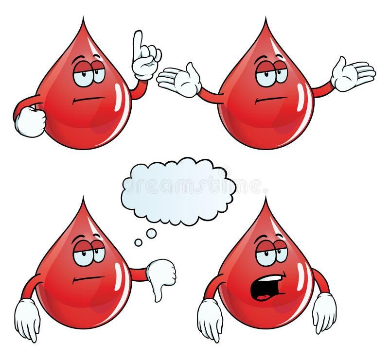 乏味血液下落集合 库存例证