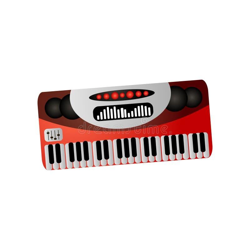 乐器、电子钢琴或者合成器研究或音乐会的 向量例证