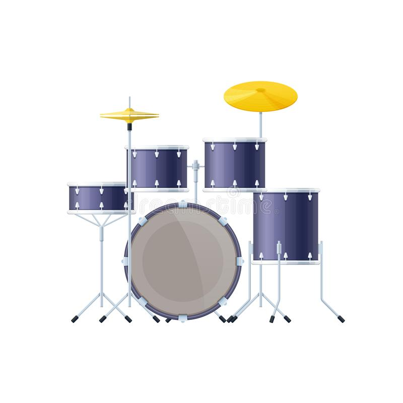 乐器是鼓 撞击声乐器,古典,管弦乐队,音乐会 向量例证