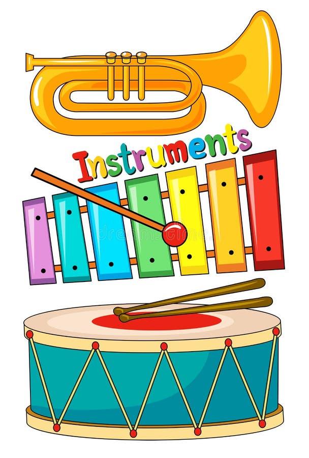 乐器的另外类型 向量例证