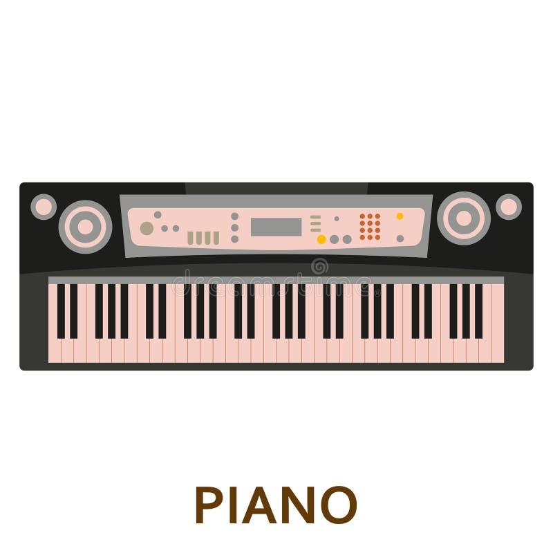 乐器象 钢琴 库存例证