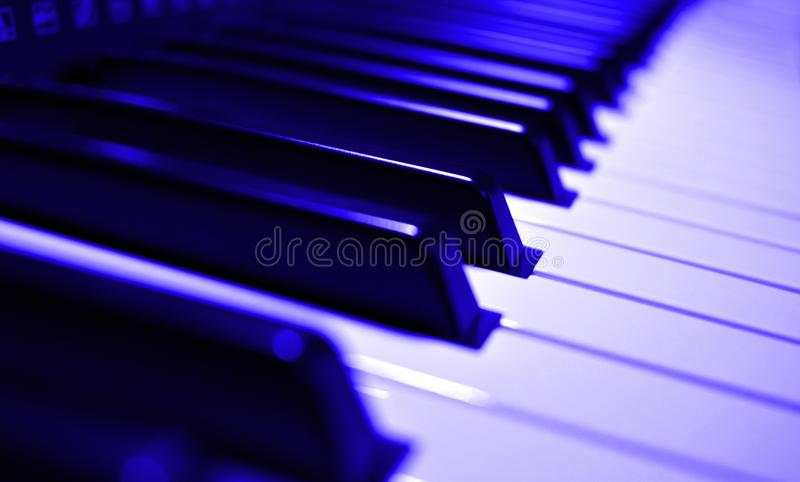 乐器-琴键特写镜头视图 免版税图库摄影