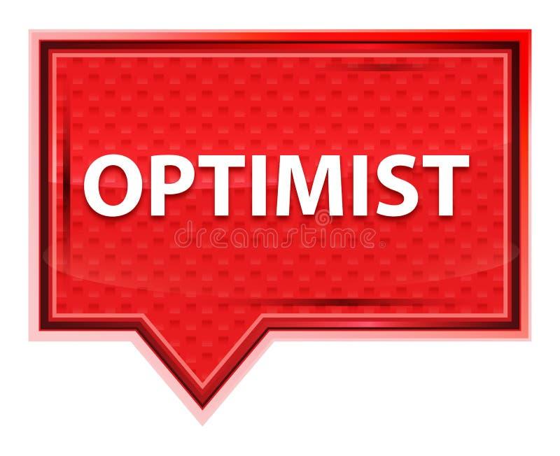 乐观主义者有薄雾的淡粉红色横幅按钮 库存例证
