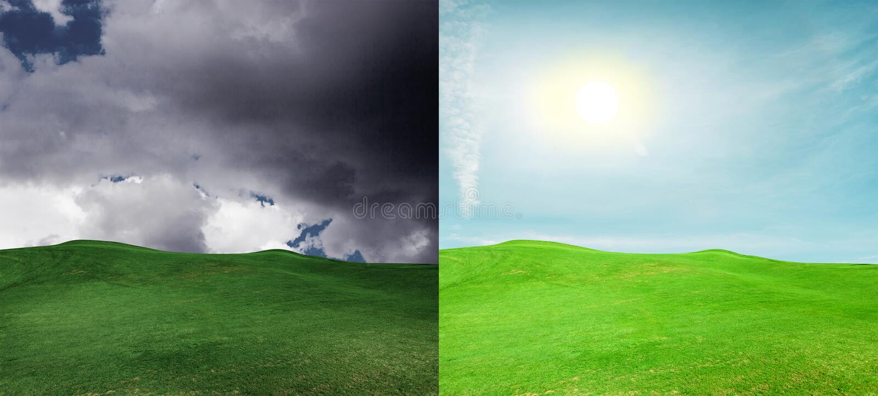 乐观和悲观 免版税图库摄影