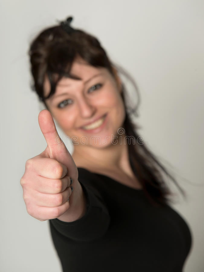 乐观的少妇 免版税库存图片