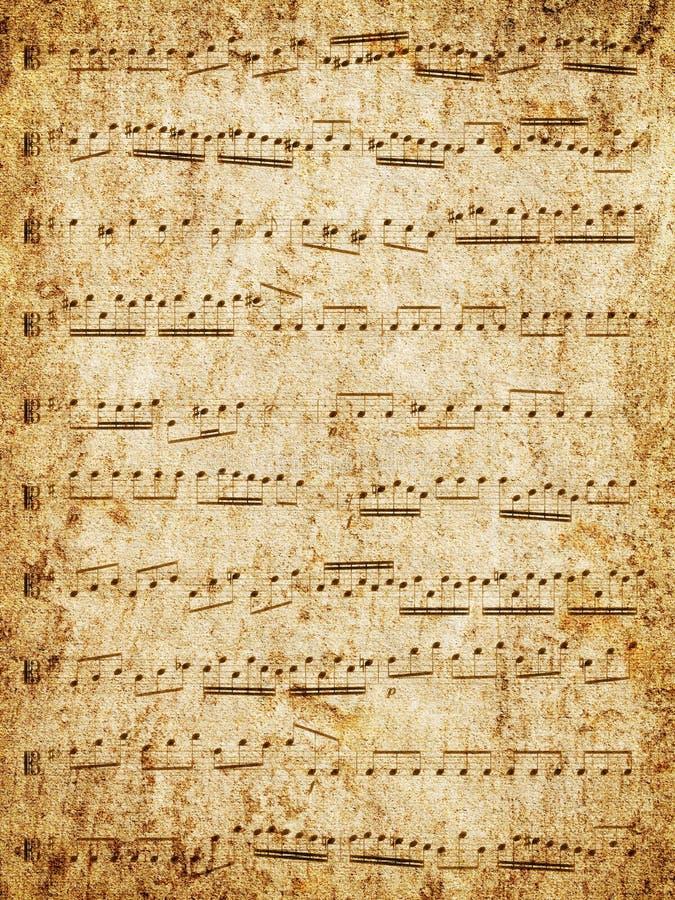 乐谱用纸 库存照片