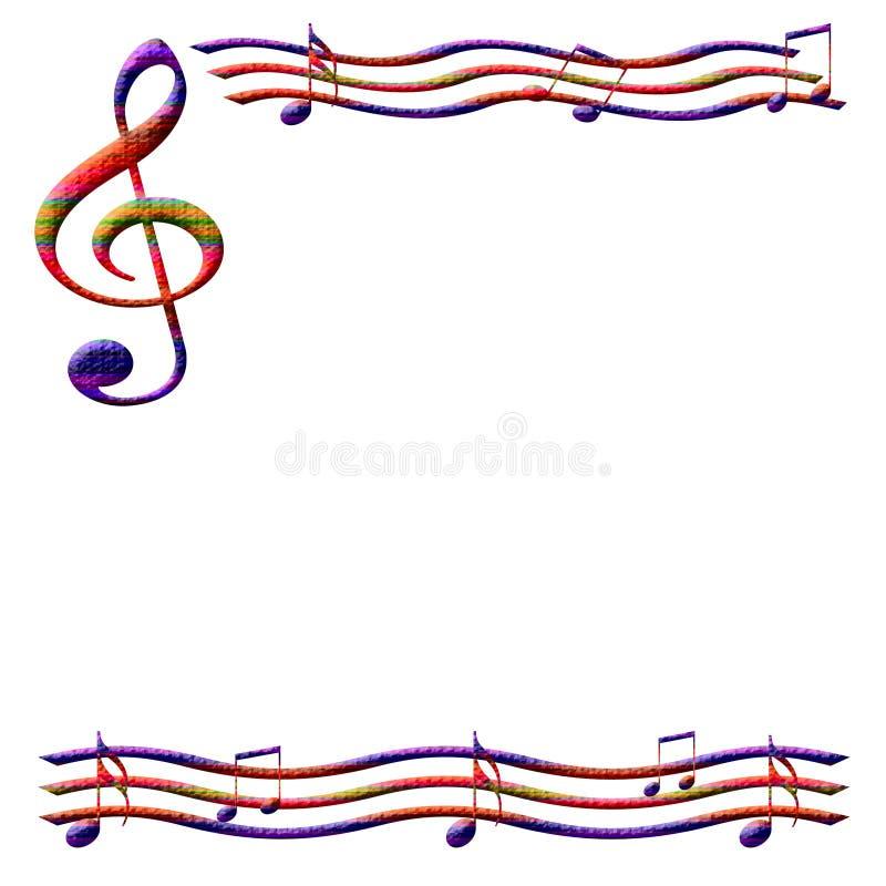 乐谱用纸 向量例证
