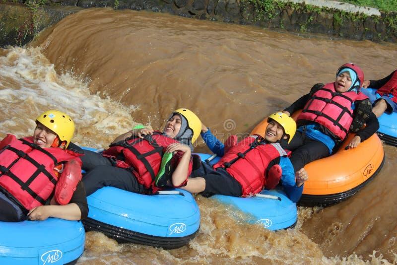乐趣与浮体的河流程 免版税库存图片