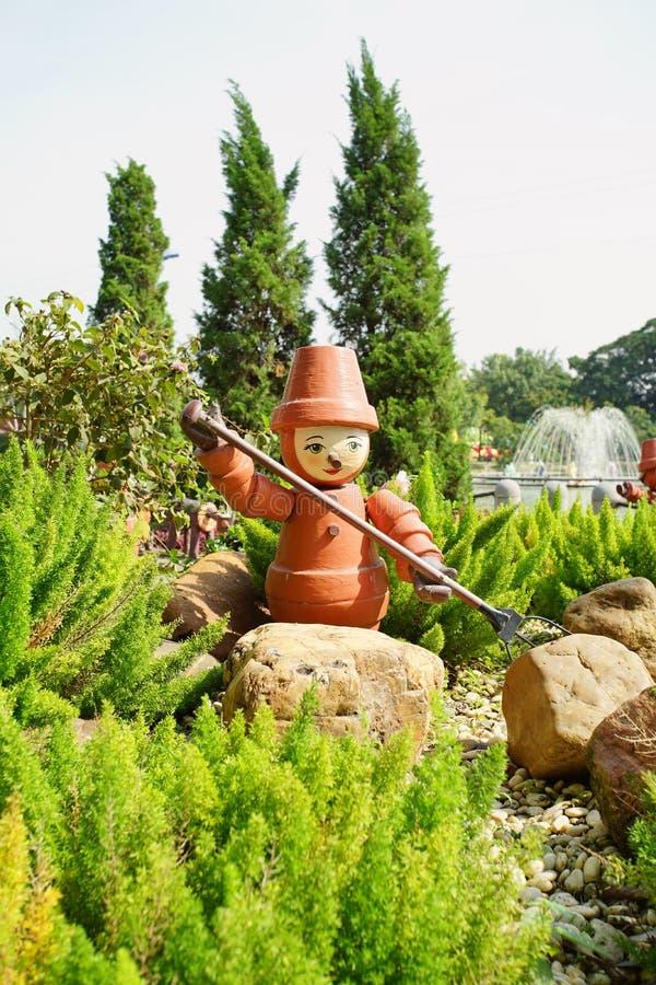 乐趣公园的里面看法在巴吞他尼府, T说出Dream World名字 免版税库存照片