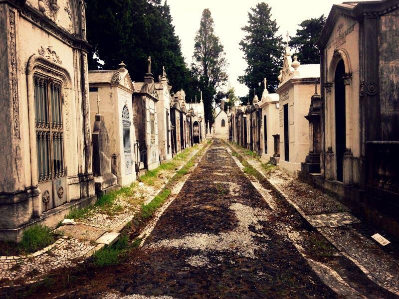 乐趣公墓,里斯本葡萄牙 库存图片