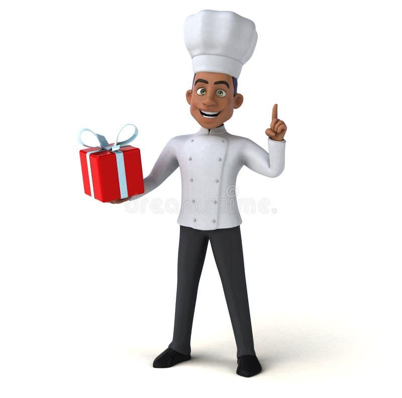 乐趣厨师 皇族释放例证