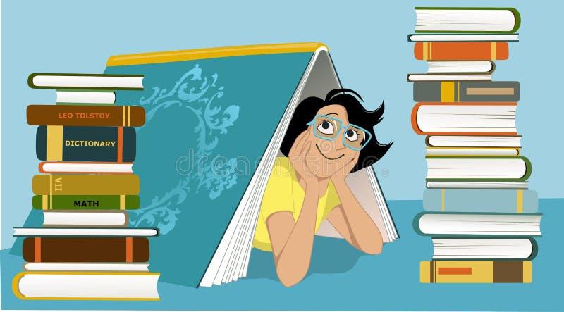 乐趣图书管理员 库存例证