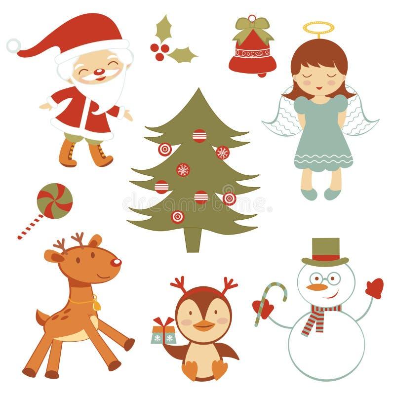 乐趣圣诞节集 向量例证