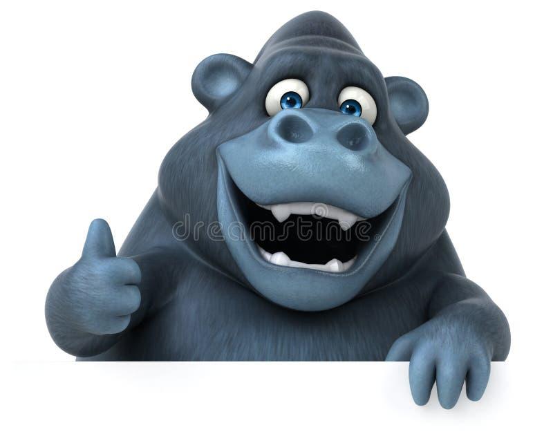 乐趣大猩猩- 3D例证 皇族释放例证