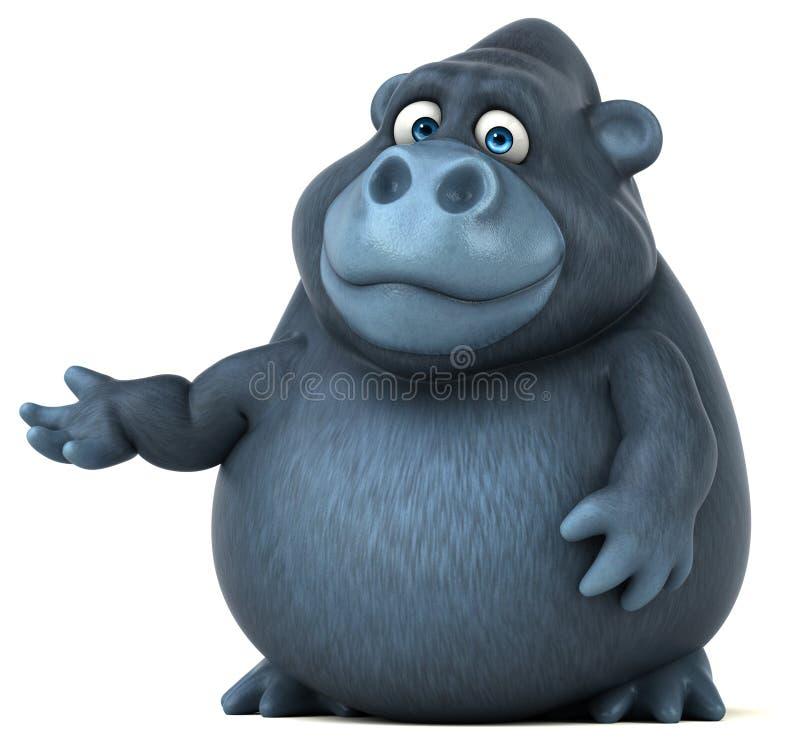 乐趣大猩猩- 3D例证 库存例证