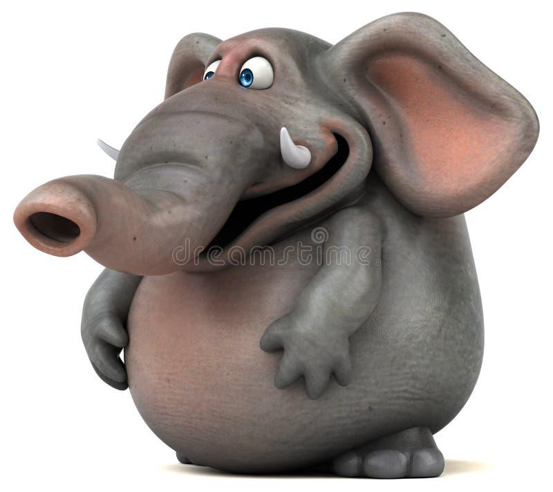 乐趣大象- 3D例证 皇族释放例证