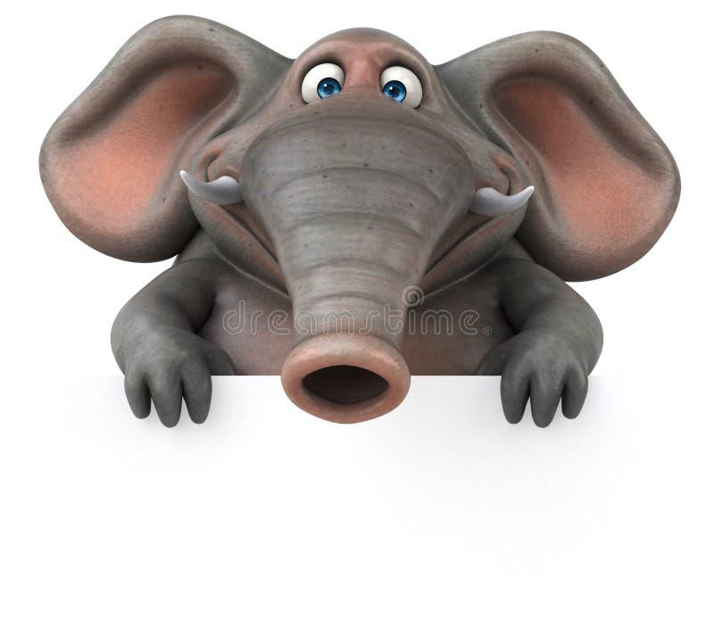乐趣大象- 3D例证 库存例证