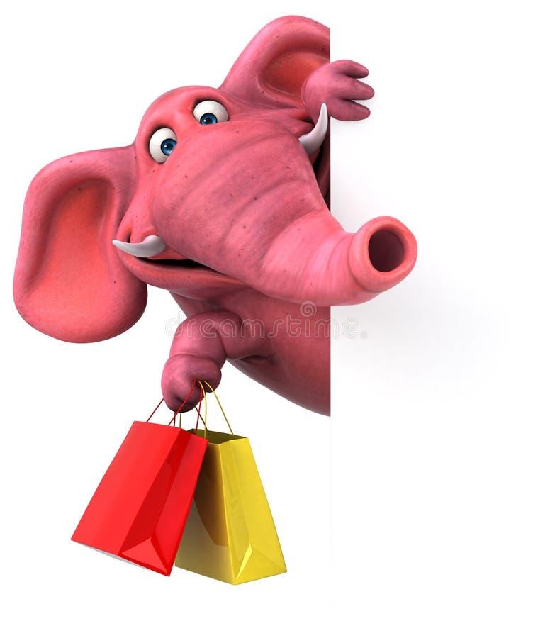 乐趣大象- 3D例证 向量例证