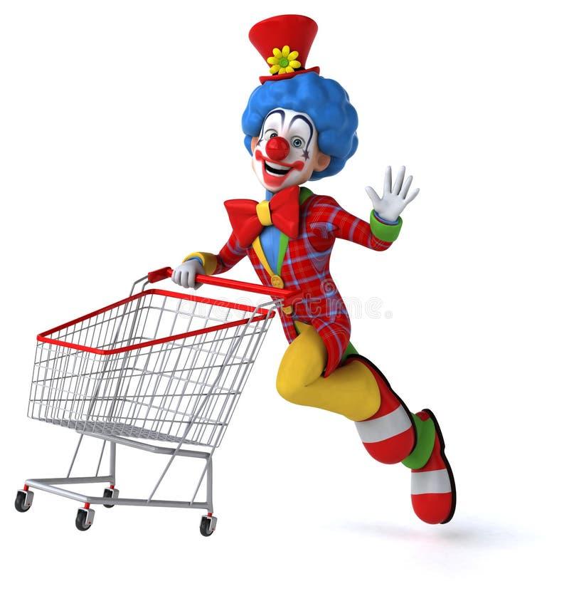 乐趣小丑 向量例证