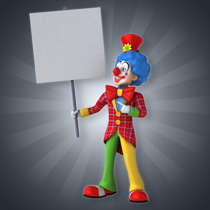 乐趣小丑 皇族释放例证