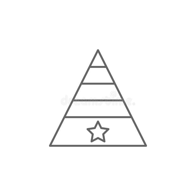 乐趣帽子庆祝概述象 独立日例证象的元素 E 向量例证