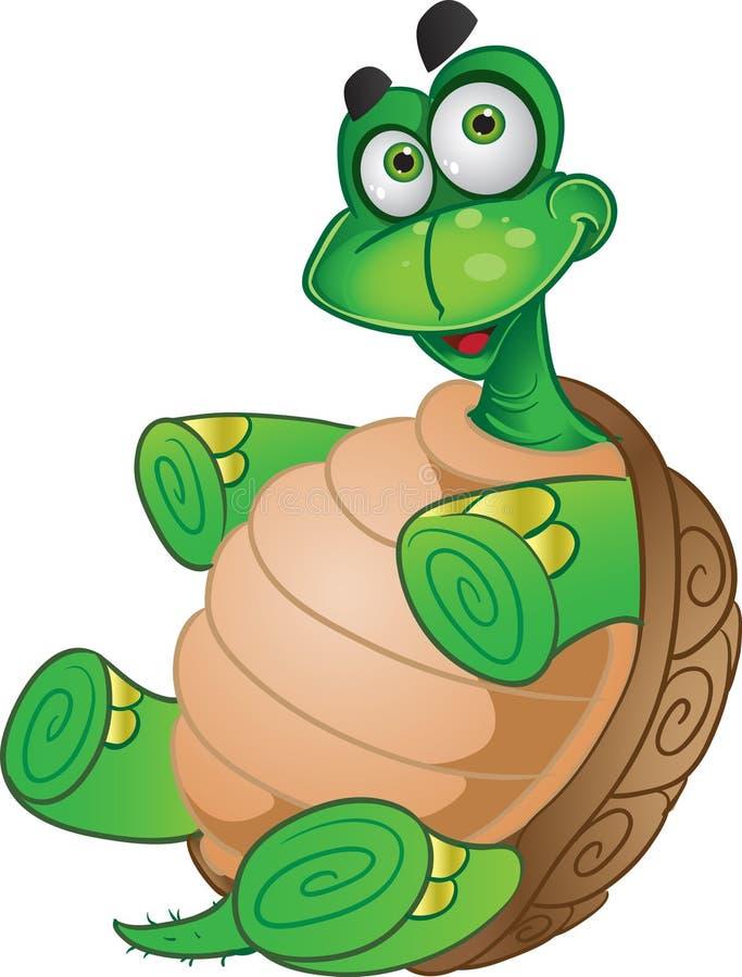 乐趣微笑的草龟 向量例证