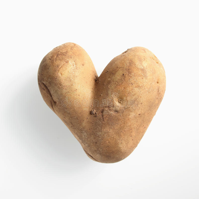 乐趣心形的双重土豆 库存照片