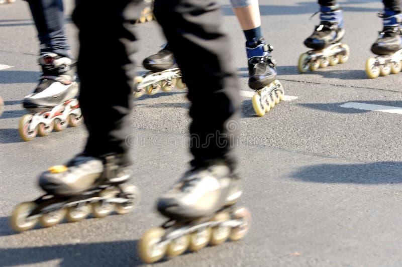 乐趣溜冰者 库存图片