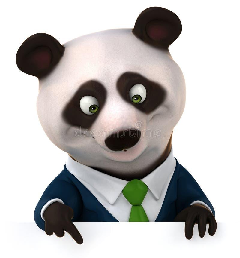 乐趣熊猫 皇族释放例证