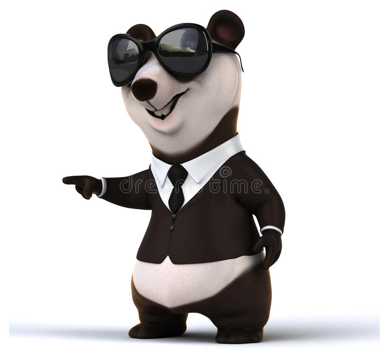 乐趣熊猫 库存例证