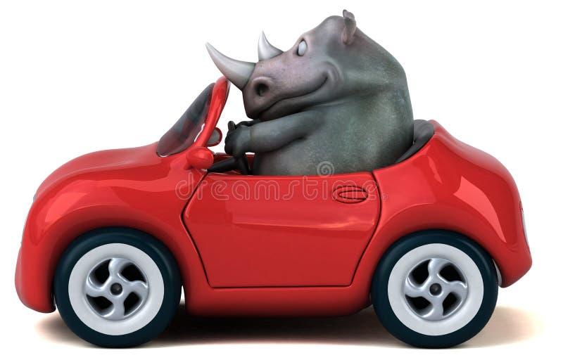 乐趣犀牛- 3D例证 皇族释放例证