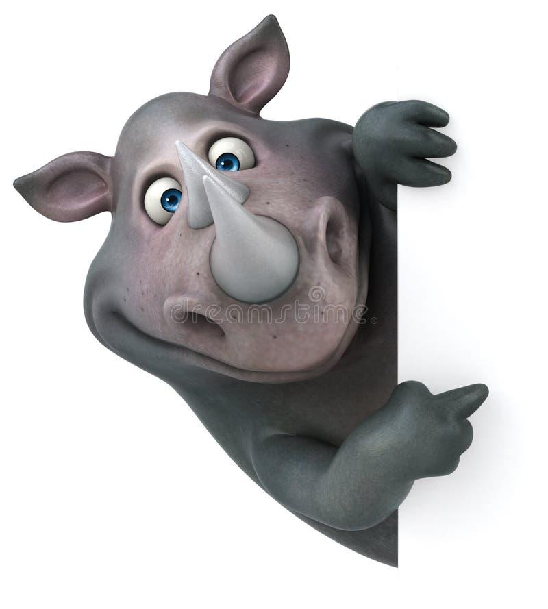 乐趣犀牛- 3D例证 库存例证