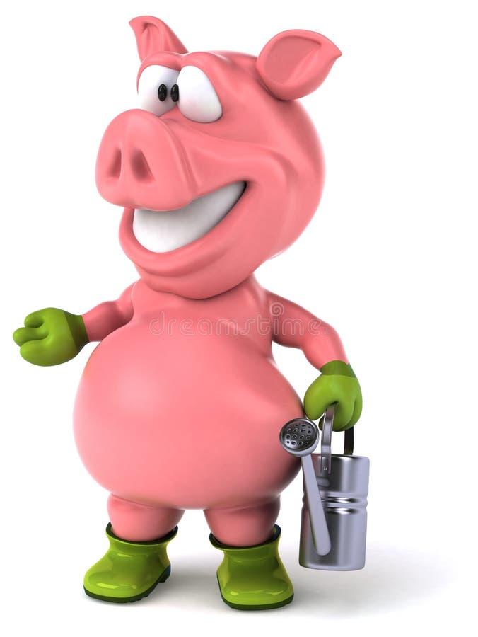乐趣猪 向量例证