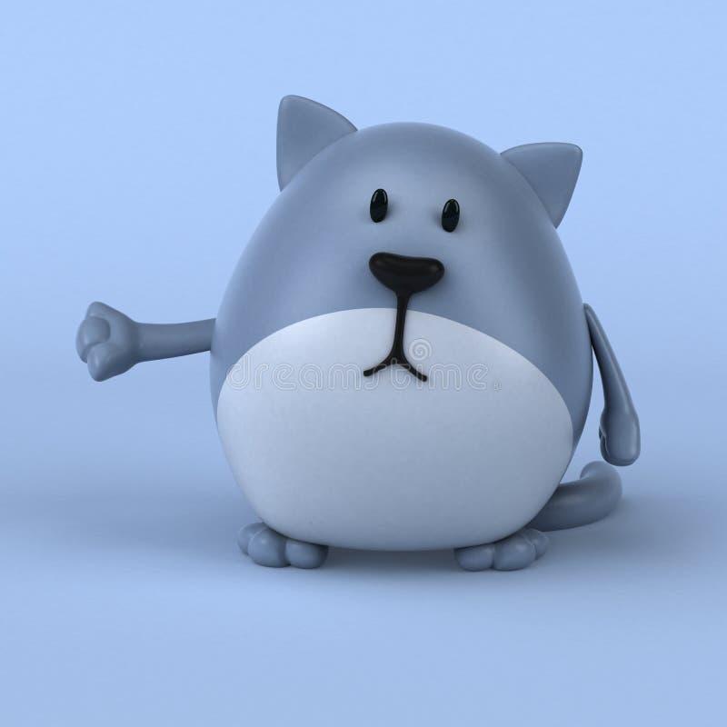 乐趣猫- 3D例证 库存例证