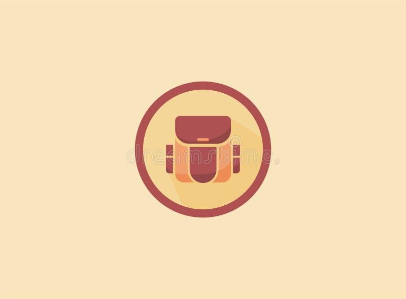 乐趣背包商标模板 皇族释放例证
