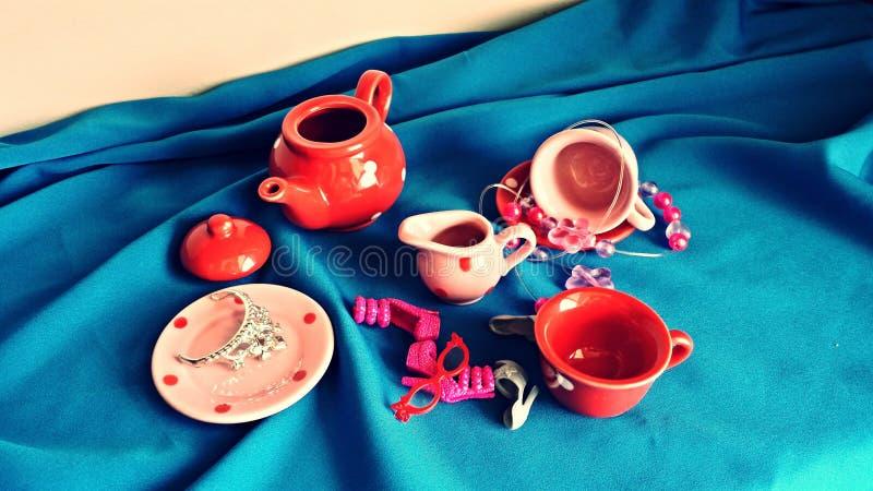 乐趣茶会 库存图片
