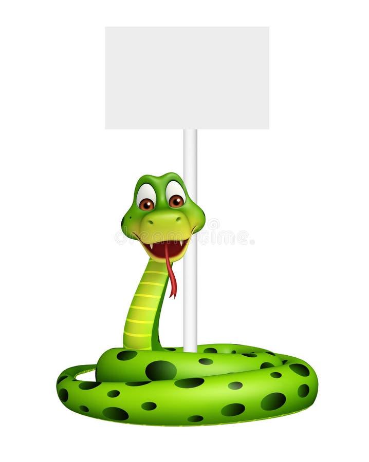 乐趣蛇与委员会的漫画人物 向量例证
