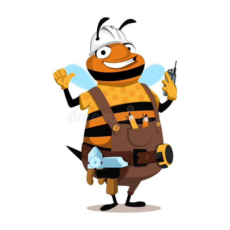 乐趣蜂工头 皇族释放例证