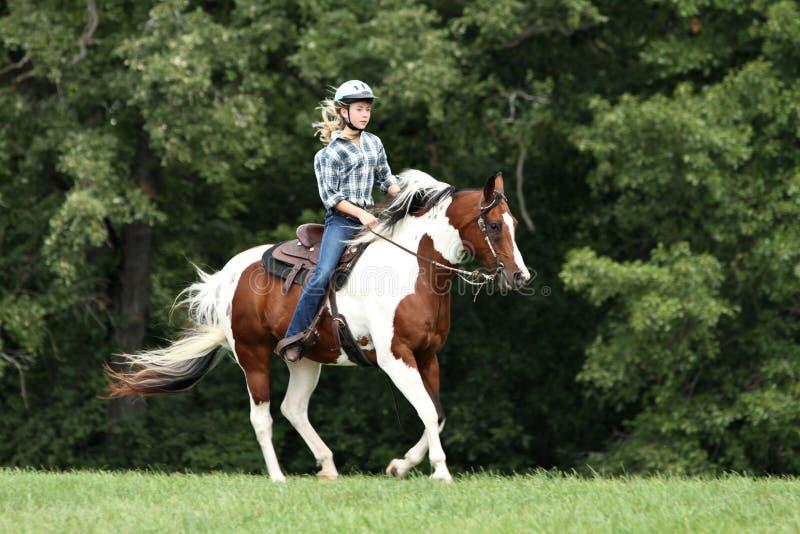 乐趣骑马 免版税库存照片