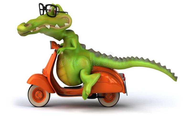 乐趣鳄鱼 向量例证