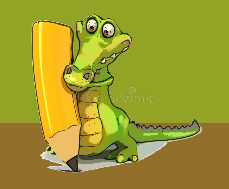乐趣鳄鱼 库存例证
