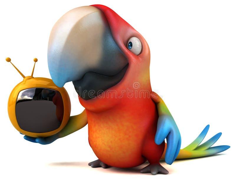 乐趣鹦鹉 向量例证