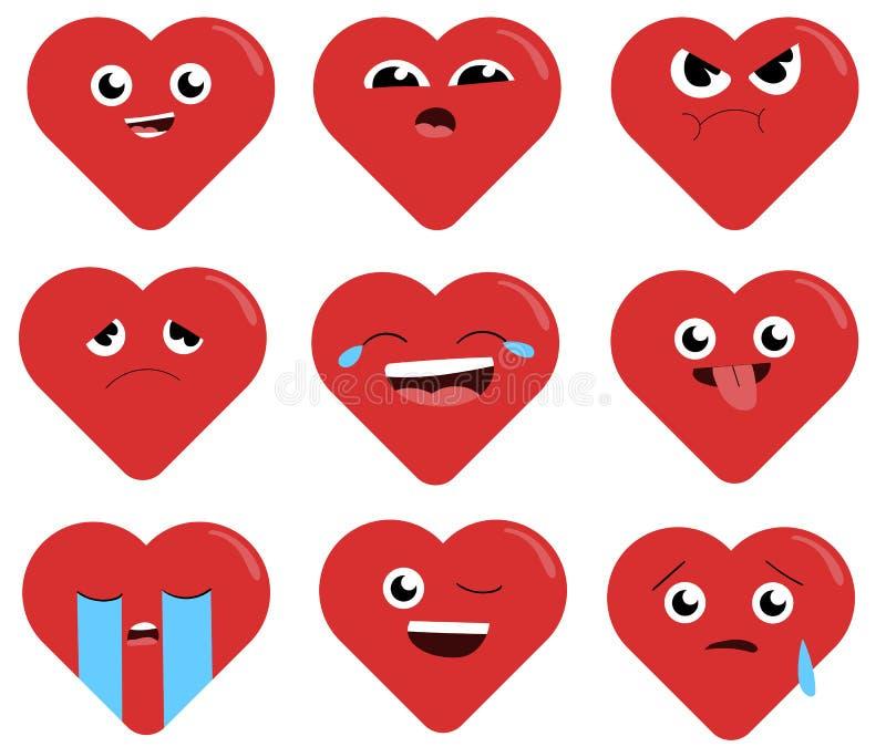 乐趣,便宜的心脏形象背景,墙纸 华伦泰` s日概念 向量例证