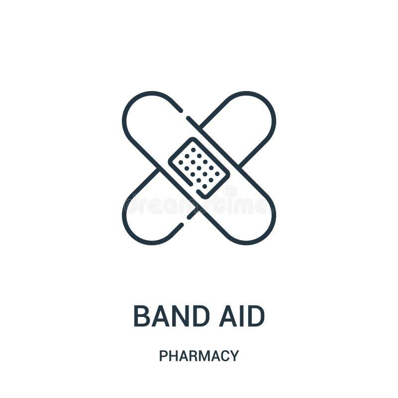 乐队援助从药房汇集的象传染媒介 稀薄的线乐队援助概述象传染媒介例证 皇族释放例证