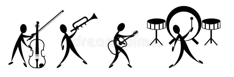乐队音乐 库存例证