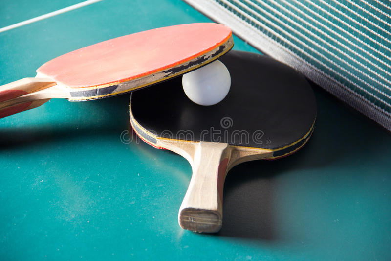 乒乓切换技术桨 图库摄影